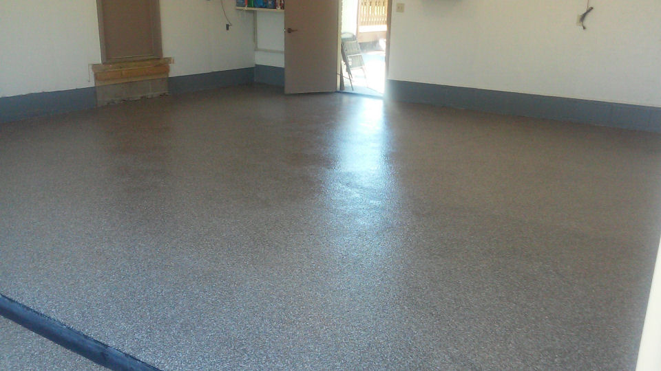 how to fix chipped concrete garage floor