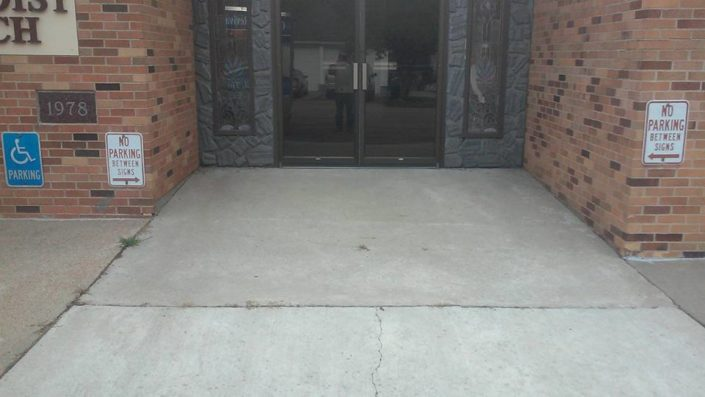 United Methodist Church Entrance - Before