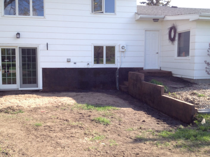 Stained Foundation Work