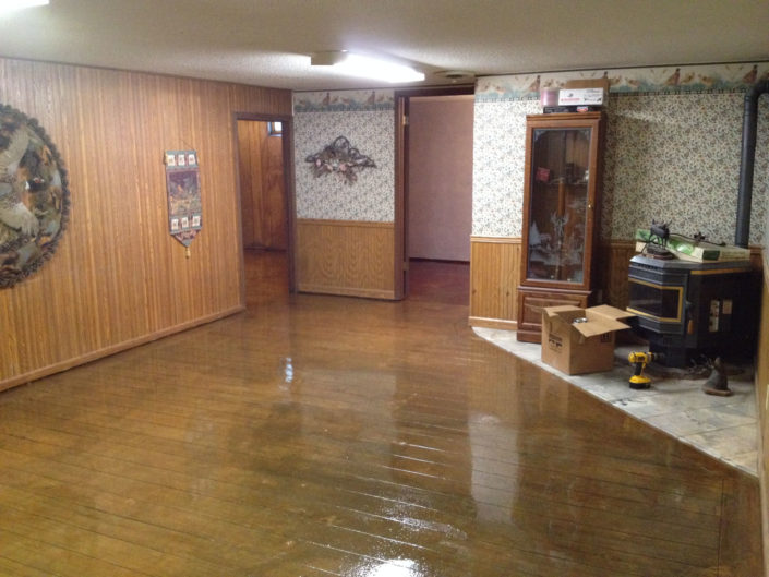 Basement Family Room Wood Look