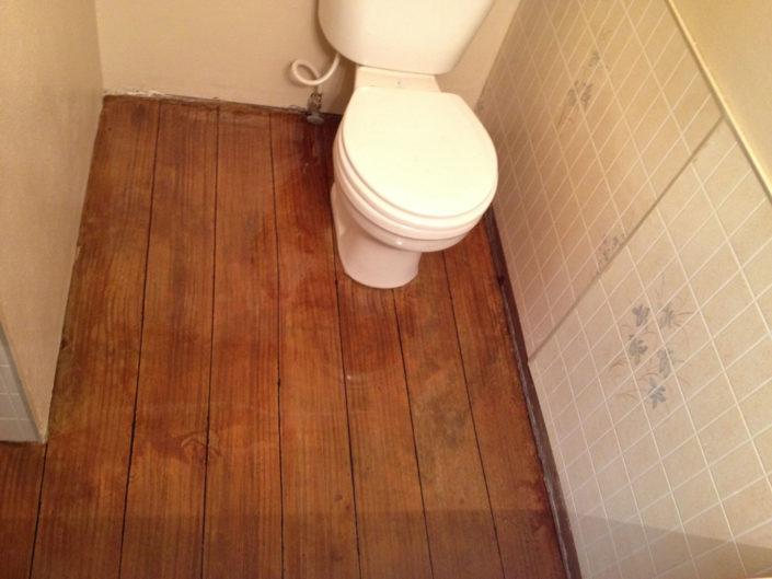 Basement Bathroom - Engraved Wood Look