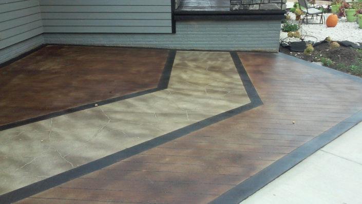 Wood Look Flagstone Look & Bordered