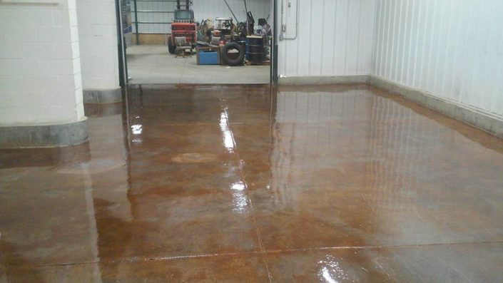 Commercial Garage, Acid Stain/Epoxy